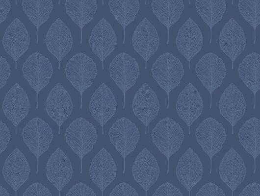 """Синие обои с листиками""""В Парке"""" для гостиной комнаты, Eco Nature, Новинки, Обои для гостиной"""