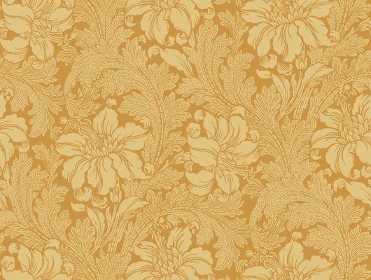 Квартирные обои желтого цвета с стилизованным цветочным рисунком., Arkiv Engblad, Обои для квартиры, Хиты продаж