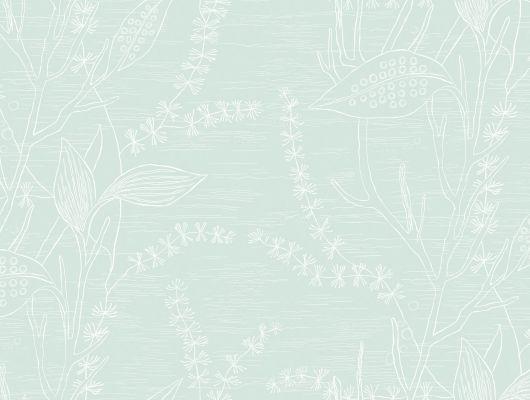 Зеленые обои с цветочным рисунком для цветущей гостиной купить в Москве, Arkiv Engblad, Новинки, Обои для гостиной, Обои для квартиры, Обои для кухни
