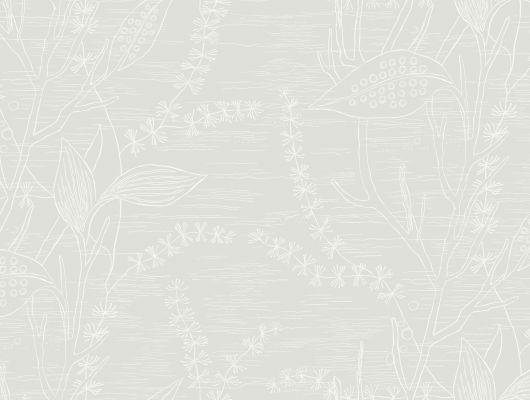 Бежевые обои с цветочным рисунком для спален Москвы, Arkiv Engblad, Обои для квартиры, Обои для спальни