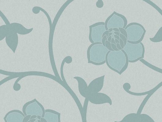 Синие обои с цветочным рисунком купить, Arkiv Engblad, Новинки, Обои для квартиры, Обои для спальни, Обои с цветами