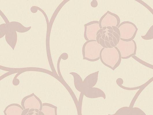обои с дизайнерским цветочным рисунком в виде розовых цветов на сливочном фоне, Arkiv Engblad, Дизайнерские обои, Обои для квартиры, Обои для кухни, Обои с цветами