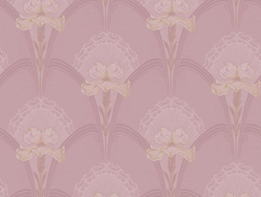 """Пастельно-розовые обои для гостиной """"Лилия"""" в стиле """"ар-нуво"""" заказать с доставкой на дом, Jubileum, Обои для гостиной, Обои для квартиры, Флизелиновые обои"""