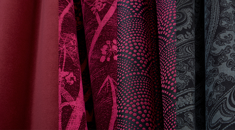 ColeSon_The Contemporary Collection-Fabrics_colourbank-MAGENTA-CHARCOAL-odesign-tkani