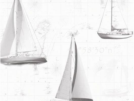 Флизелиновые обои Aura Global Fusion G56421.Обои серые с морской тематикой. Купить в детскую. Недорого. Бесплатная доставка., Global Fusion, Обои для гостиной, Обои для кабинета
