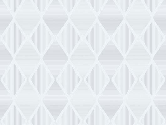 Обои с мелким геометрическим рисунком белого цвета, Reflections, Новинки, Обои с рисунком