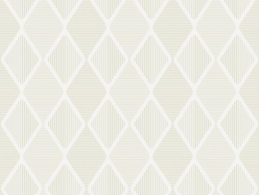 Обои из флизелина с геометрическим ромбовидным рисунком бежевого цвета, Reflections, Архив, Обои для квартиры, Распродажа, Флизелиновые обои
