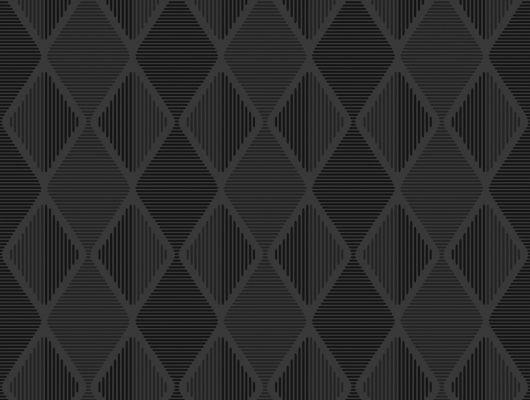 Черные обои для стен с геометрическим рисунком, Reflections, Архив, Обои для квартиры, Обои для стен, Распродажа