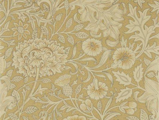 Выбрать бумажные обои для спальни арт. 216681 из коллекции Melsetter от Morris с обилием крупных цветов в оттенке античное золото с бесплатной доставкой, Melsetter, Обои для гостиной, Обои для спальни