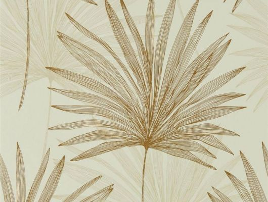 Купить обои в гостиную Mitende арт. 112228 из коллекции Mirador, Harlequin с рисунком из крупных пальмовых листьев на жемчужном фоне в салонах Москвы., Mirador, Обои для гостиной, Обои для кухни, Обои для спальни