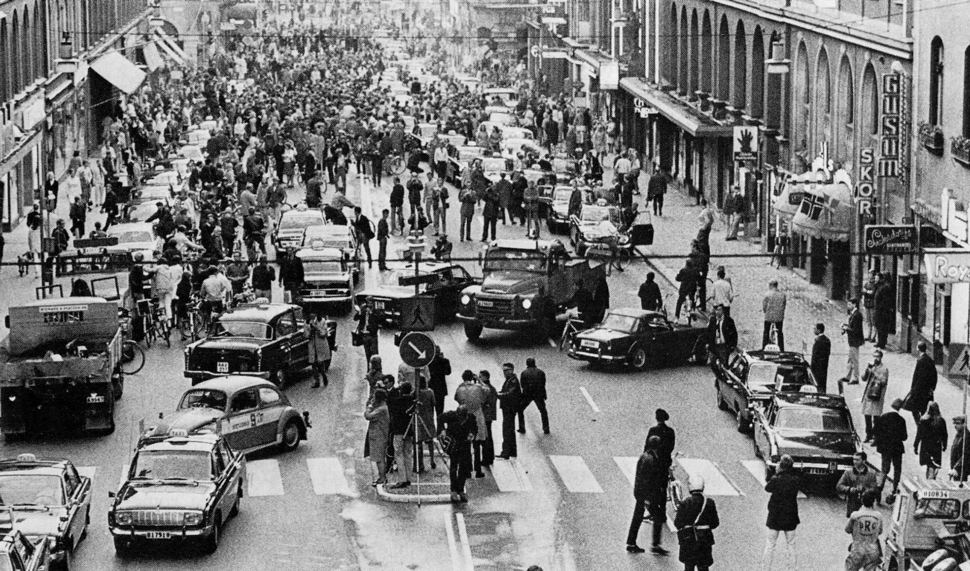 hgertrafikomlggningen, September 3, 1967