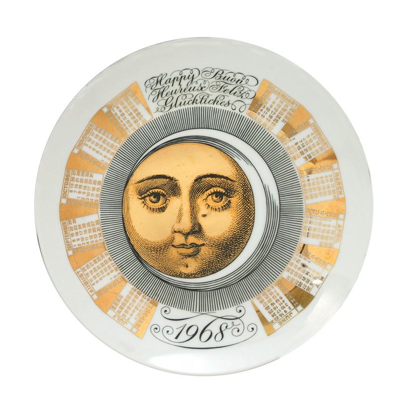 Тарелка Форназетти 1968 Fornasetti plate 1968