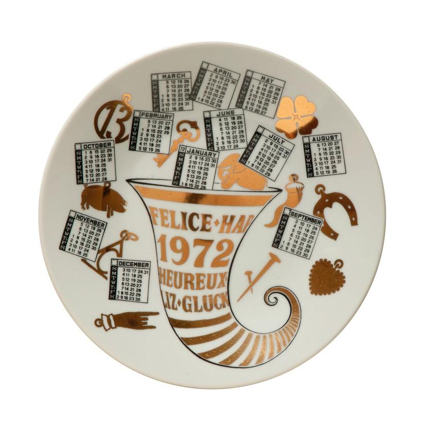 Тарелка Форназетти 1972 Fornasetti plate 1972