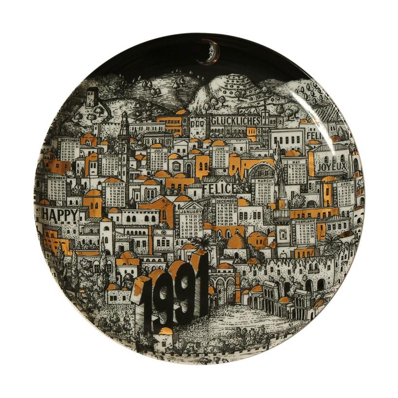 Тарелка Форназетти 1991 Fornasetti plate 1991