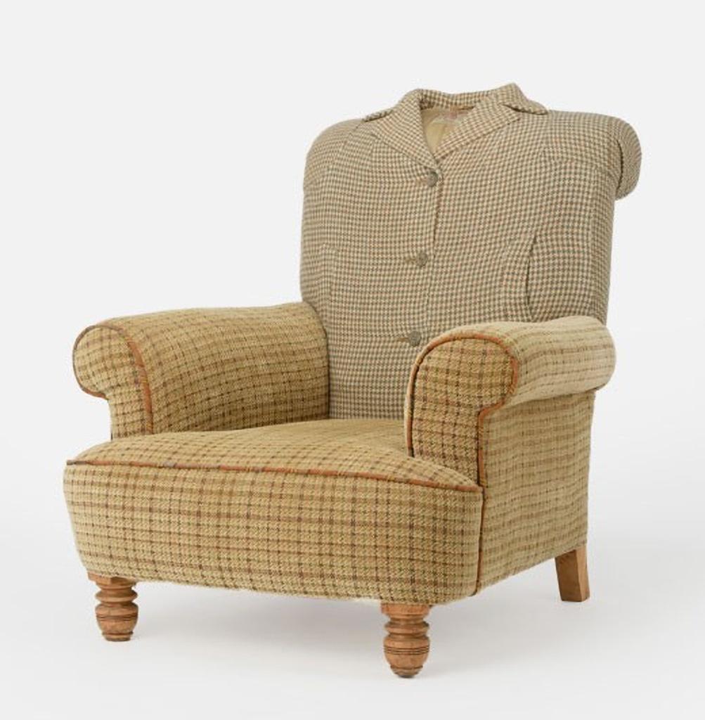 13 The Vintage Harris Tweed Overcoat Armchair