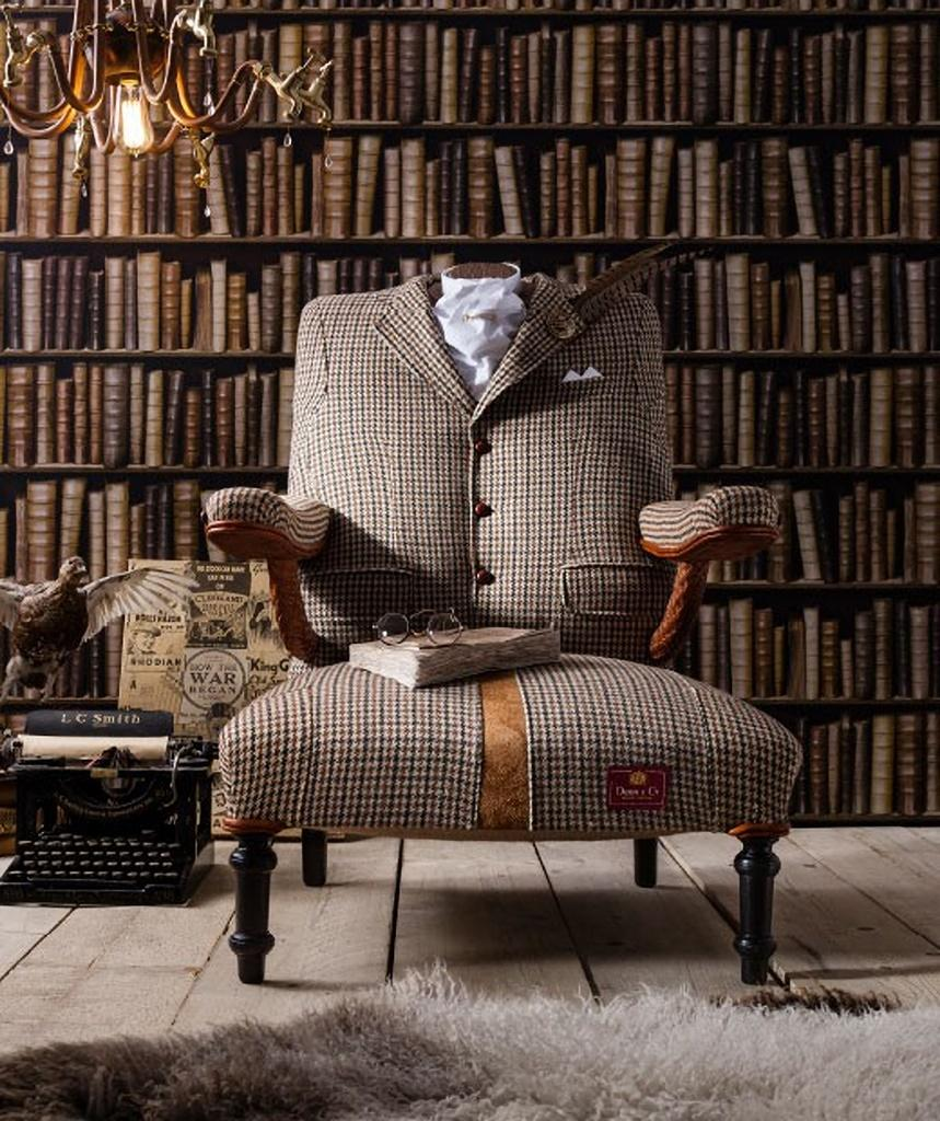 09 The Dapper Tweed Armchair