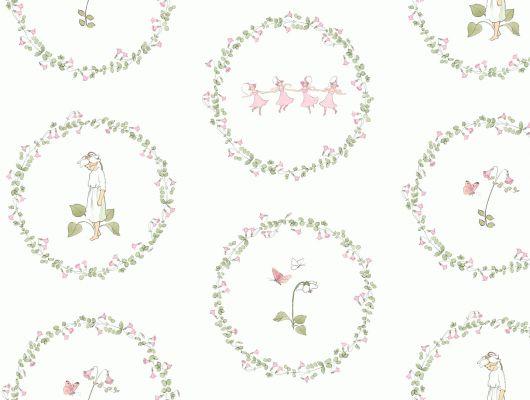 """Borastapeter """"Scandinavian Designers Mini"""". Обои для детской в светлых тонах с растительным узором """"PYROLA"""". Выбрать в салоне в Москве. Заказать с доставкой., Scandinavian Designers Mini, Архив, Детские обои"""