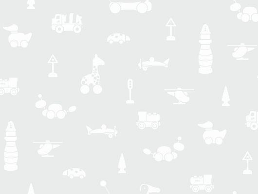 """Флизелиновые обои  Brio Icons, Borastapeter """"Scandinavian Designers Mini"""". с узором из белых форм игрушек на сером фоне, Купить обои в детскую,недорого в Москве. Доставка., Scandinavian Designers Mini, Архив, Детские обои"""