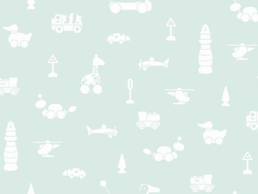 Обои для детей с моющимся слоем нежного голубого фона купить онлайн, Scandinavian Designers Mini, Моющиеся обои