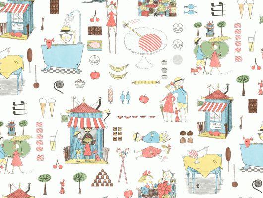 Обои от дизайнера Стига Линдберга в детскую комнату с иллюстрациями веселого персонажа Кракеля, Scandinavian Designers Mini, Дизайнерские обои, Обои для квартиры, Хиты продаж