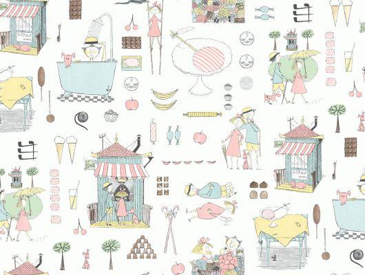 Обои с замечательным рисунком для детей купить в интернет-магазине, Scandinavian Designers Mini, Детские обои, Новинки, Обои с рисунком