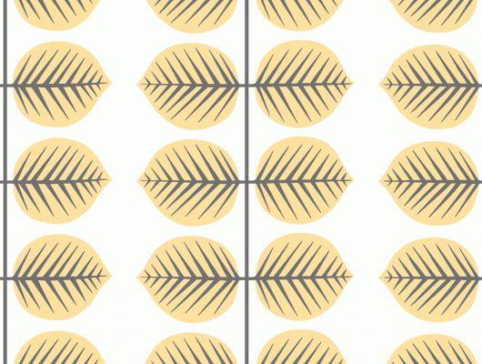 """Обои в детскую Borastapeter """"Scandinavian Designers Mini"""",Berså II , арт. 6244. Обои с желтым растительным рисунком в виде огромных листьев . Выбрать обои в Москве с доставкой., Scandinavian Designers Mini, Архив, Детские обои, Обои для кухни"""
