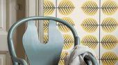 """Обои в детскую Borastapeter """"Scandinavian Designers Mini"""",Berså II , арт. 6244. Обои с желтым растительным рисунком в виде огромных листьев . Выбрать обои в Москве с доставкой."""