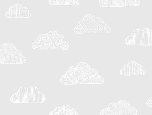 Обои для комнаты с детским облачным рисунком на бежевом фоне купить в шоуруме в Москве, Scandinavian Designers Mini, Детские обои, Обои для квартиры, Обои для комнаты