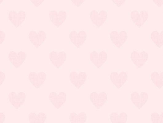 """Обои для спальни девочки с розовыми сердечками Sweetheart Borastapeter """"Scandinavian Designers Mini"""". Выбрать обои в салоне. Оформить заказ с доставкой.Купить в интернет-магазине., Scandinavian Designers Mini, Архив, Детские обои"""