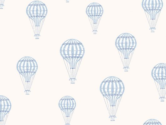 Детские обои для мальчика в детскую комнату с летающими воздушными шарами синего цвета на белом фоне, Scandinavian Designers Mini, Детские обои, Новинки, Обои для спальни