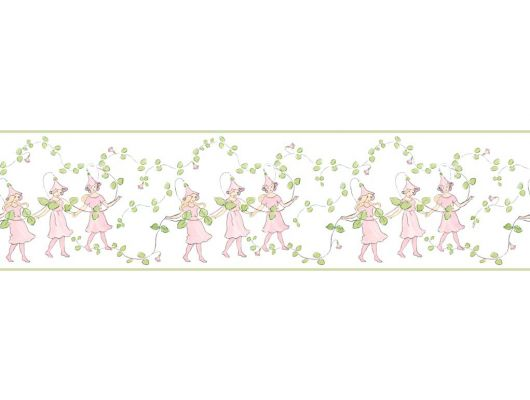 Детские бордюры для обоев Linnea с рисунком из танцующих фей, Scandinavian Designers Mini, Бордюры для обоев, Детские обои, Дизайнерские обои, Обои для квартиры