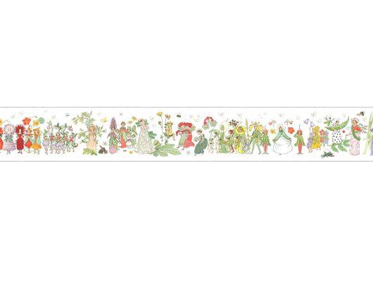 """Детский бордюр для стен Blomsterparaden.Borastapeter """"Scandinavian Designers Mini"""" Арт.6280.Купить в салоне в Москве.Обои для комнаты. Доставка., Scandinavian Designers Mini, Архив, Бордюры для обоев"""