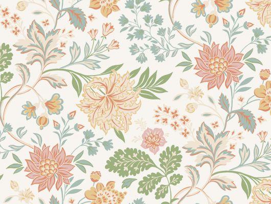 Обои с цветочным рисунком для гостиной комнаты купить в Москве, Beautiful Traditions, Обои для гостиной