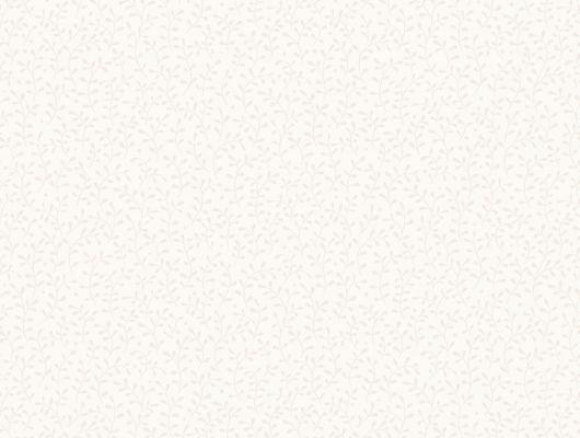 Шведские обои из флизелина с мелким бежевым рисунком в виде листочков на белом фоне, Beautiful Traditions, Обои для квартиры, Флизелиновые обои