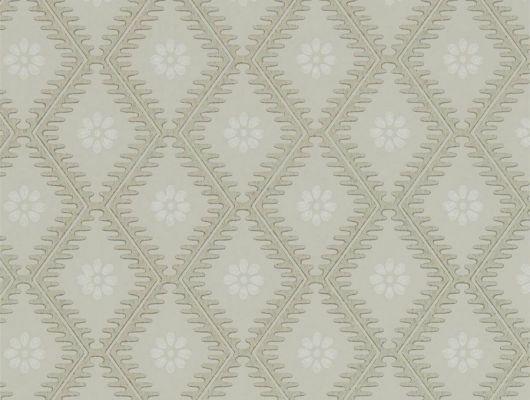 Выбрать цветочные обои для спальни с серых тонах  Witney Daisy из коллекции Littlemore от Sanderson в интернет-магазине., Littlemore, Обои для гостиной, Обои для кабинета, Обои для спальни