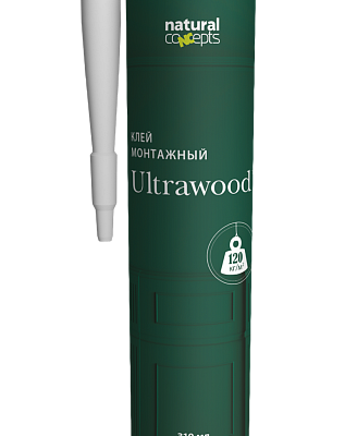 Клей Клей ULTRAWOOD монт. 310 мл, Ultrawood, Клей, Лепнина и молдинги, Назначение