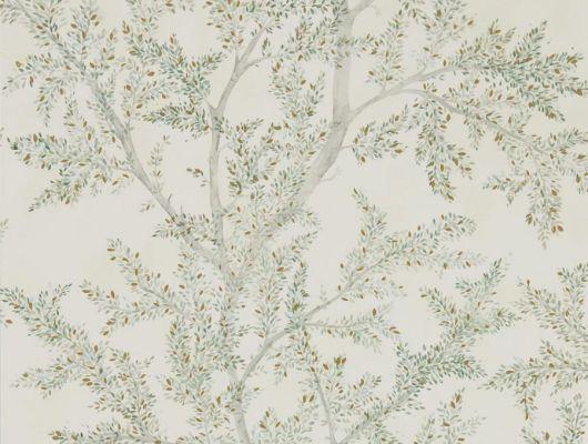 Светлые обои с изображением ветвей деревьев дизайн Farthing Wood арт. 216614 от Sanderson из коллекции Elysian подойдет для ремонта маленькой комнаты, Elysian, Обои для гостиной, Обои для спальни