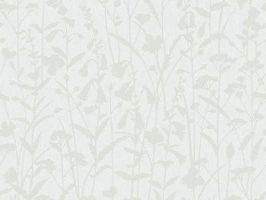 Обои из флизелина с цветочным узором оттенка зеленью со сливками