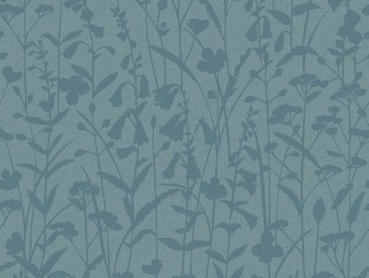 Обои для гостиной комнаты с цветочным рисунком сине-зеленого оттенка, Decorama Easy Up 2016, Новинки, Обои для гостиной, Хиты продаж