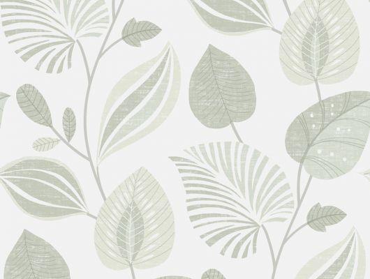 Обои с лиственным узором зеленого цвета, которые можно протирать влажной губкой, Decorama Easy Up 2016, Архив, Моющиеся обои, Обои для квартиры, Распродажа, Хиты продаж