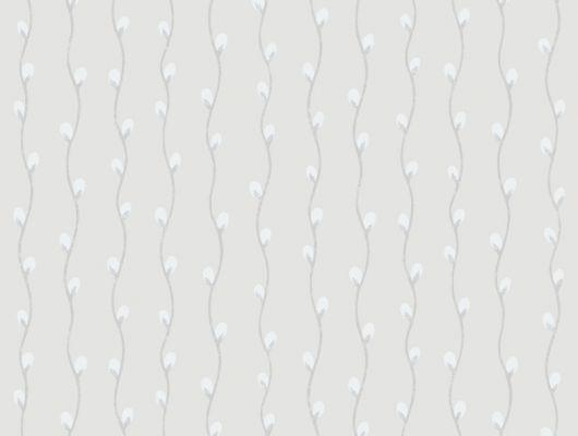 Обои с цветочным мотивом в виде вербы для коридоров, Decorama Easy Up 2016, Архив, Обои для квартиры, Обои для прихожей, Полосатые обои, Распродажа