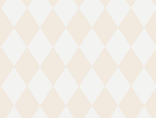 Геометрические обои нежнейшего персикового цвета в виде ромбов, Decorama Easy Up 2016, Архив, Обои в клетку, Обои для квартиры, Распродажа