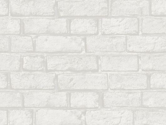 Белые обои с кирпичной кладкой для коридора для создания стиля лофт, Decorama Easy Up 2016, Архив, Обои для квартиры, Распродажа