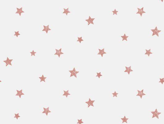 Красные звезды на белом фоне на моющихся обоях из Швеции, Decorama Easy Up 2016, Новинки, Обои с рисунком