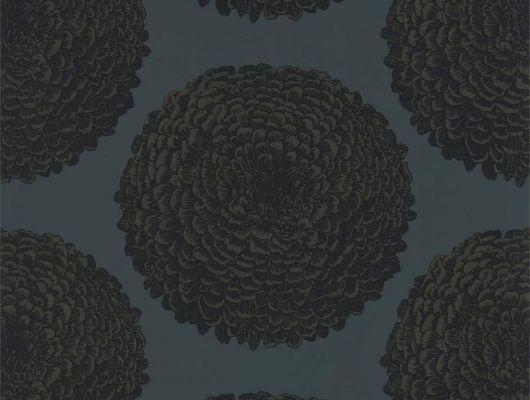 Флизелиновые обои для спальни  в черном цвете с тонкими вкраплениями золота. Elixity арт. 112177 коллекция Momentum 6 от Harlequin, Momentum 6, Обои для гостиной, Обои для кабинета, Обои для спальни