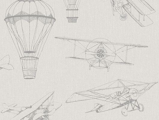 Обои  из Швеции коллекция Newbie, с рисунком под названием  Bon Voyage выполнены на бежевом фоне на которых детально прорисованы воздушные шары и самолеты , идеально подойдут для спален детей. Шведские обои купить, салон обоев ОДизайн, в интернет-магазине, бесплатная доставка, оплата онлайн, большой ассортимент, Newbie Wallpaper, Детские обои, Дизайнерские обои, Хиты продаж