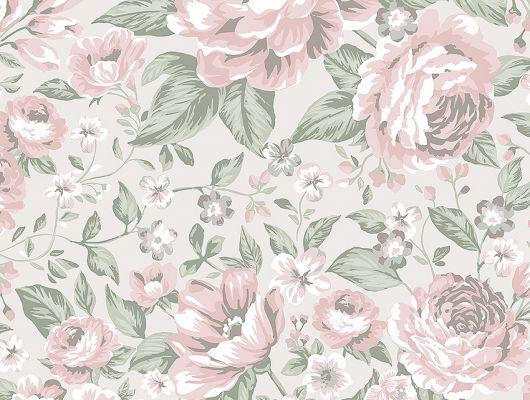 Флизелиновые обои из Швеции коллекция Newbie от Borastapeter, с рисунком под названием Rosie. Крупно изображены бутоны роз на серо-голубом фоне. Обои для детской, обои для спальни. Купить обои онлайн, большой ассортимент, бесплатная доставка., Newbie Wallpaper, Детские обои, Дизайнерские обои, Обои для спальни