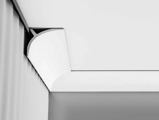 Карниз C991  Orac Decor , Orac decor, Карнизы, Карнизы для скрытого освещения, Лепнина и молдинги, Назначение, Профили для штор