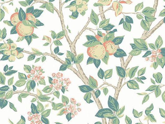 Обои  из Швеции коллекция Falsterbo lll, с рисунком под названием Ingrid Marie Ингрид Мари  изображены цветы и плоды яблони. Обои для спальни, для гостиной .  Цена обоев из Швеции, заказать обои на дом, цветочные обои купить в Москве, Falsterbo III, Детские обои, Новинки, Обои для гостиной, Обои для кабинета, Обои для спальни