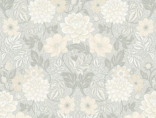 Обои  из Швеции коллекция Falsterbo lll, с рисунком под названием DAHLIA GARDEN сад Далия, изображены крупные цветы . Обои для прихожей, для туалета. Цветочные обои из Швеции, купить обои в магазине в москве, Falsterbo III, Обои для гостиной, Обои для кабинета, Обои для спальни